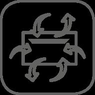 4 entradas de aire y 2 de salidas configurables
